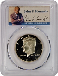 2008-S PCGS PR70DCAM Kennedy Half Dollar Commemorative Presidential Label