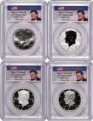 2014-PCGS 70 Set (4) Kennedy SIlver Half Dollar Anniversary First Strike