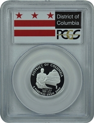 2009-S PCGS PR69DCAM District of Columbia Silver Territory Quarter