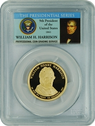 2009-S PCGS PR70DCAM William Henry Harrison Presidential Dollar Commemorative