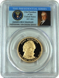 2010-S PCGS PR70DCAM James Buchanan Presidential Dollar