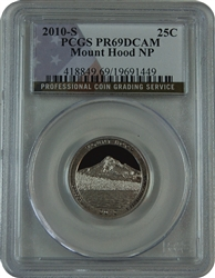 2010-S PCGS PR69DCAM Mount Hood National Park ATB Quarter