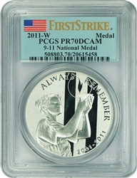 2011-W PCGS PR70DCAM 9-11 National Medal First Strike