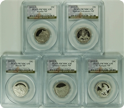 2012-S PCGS PR70DCAM NATIONAL PARK SET OF 5