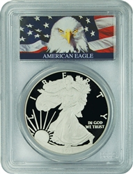 2012-W PCGS PR70DCAM Silver Eagle Dollar (Bald Eagle Label)