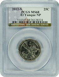 2012-S PCGS MS68 El Yunque National Park Quarter