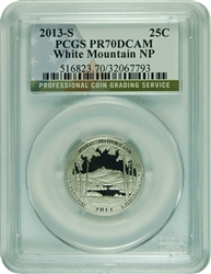 2013-S PCGS PR70DCAM White Mountain National Park Quarter