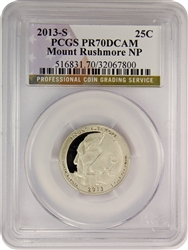 2013-S PCGS PR70DCAM Mount Rushmore National Park Quarter