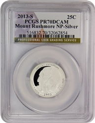 2013-S PCGS PR70DCAM Mount Rushmore Silver National Park