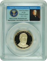 2013-S PCGS PR70DCAM William McKinley Presidential Dollar Commemorative