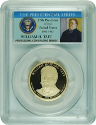 2013-S PCGS PR70DCAM William H. Taft Presidential Dollar Commemorative