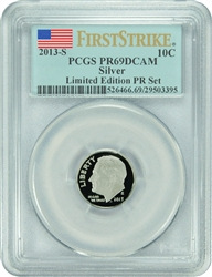 2013-S PCGS PR69DCAM Roosevelt SILVER Dime FIRST STRIKE LIMITED EDITION