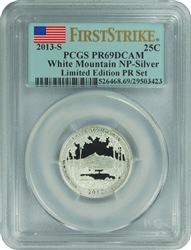 2013-S PCGS PR69DCAM White Mountain NP-Silver (First Strike) Limited Edition