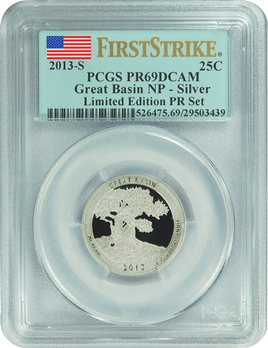 2013-S PCGS PR69DCAM Great Basin NP-Silver (First Strike) Limited Edition