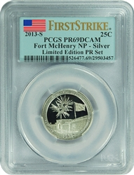 2013-S PCGS PR69DCAM Fort McHenry NP-Silver (First Strike) Limited Edition