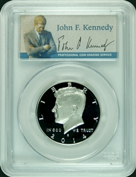 2014-S PCGS PR70DCAM Kennedy SILVER Half Dollar Commemorative Presidential Label