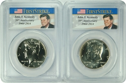 2014-D/P PCGS SP66 Kennedy Half Dollar First Strike