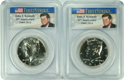 2014-D/P PCGS SP67 Kennedy Half Dollar First Strike