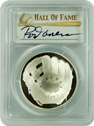 2014-P PCGSPR70DCAM Baseball Hall Of Fame Autographed Rod Carew $1 First Strike