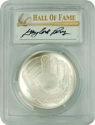 2014-P PCGS MS70 Baseball Hall Of Fame Autographed Gaylord Perry $1 First Strike