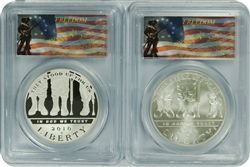 2010-W (2 set of coins) PCGS PR70DCAM/MS70 Disabled Veterans (Freedom Labels)