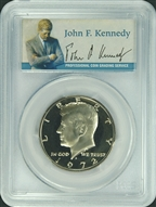 1972-S PCGS PR69 Kennedy Half Dollar Presidential Label