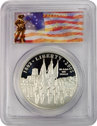 2002-W PCGS PR70DCAM West Point Commemorative Silver Dollar Freedom Label