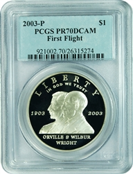2003-P PCGS PR70DCAM First Flight Commemorative