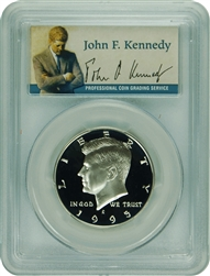 1995-S PCGS PR70DCAM Kennedy SILVER Half Dollar Commemorative Presidential Label