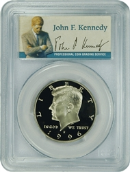 1996-S PCGS PR70DCAM Kennedy Half Dollar Silver Commemorative Presidential Label