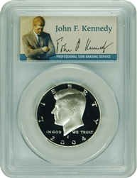 2004-S PCGS PR70DCAM Kennedy SILVER Half Dollar Commemorative Presidential Label