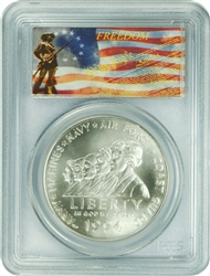 1994-W PCGS MS70 Women Military Commemorative Silver Dollar Freedom Label