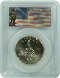 1995-S PCGS MS70 Civil War Commemorative Silver Half Dollar Freedom Label