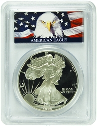 1989-S PCGS PR70DCAM Silver Eagle Dollar Bald Eagle Label