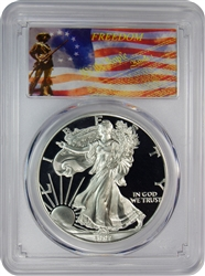 1997-P PCGS PR70DCAM Silver Eagle Dollar Freedom Label
