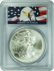 2003 PCGS MS70 Silver Eagle Dollar Bald Eagle Label