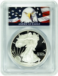 2005-W PCGS PR70DCAM Silver Eagle Dollar Bald Eagle Label