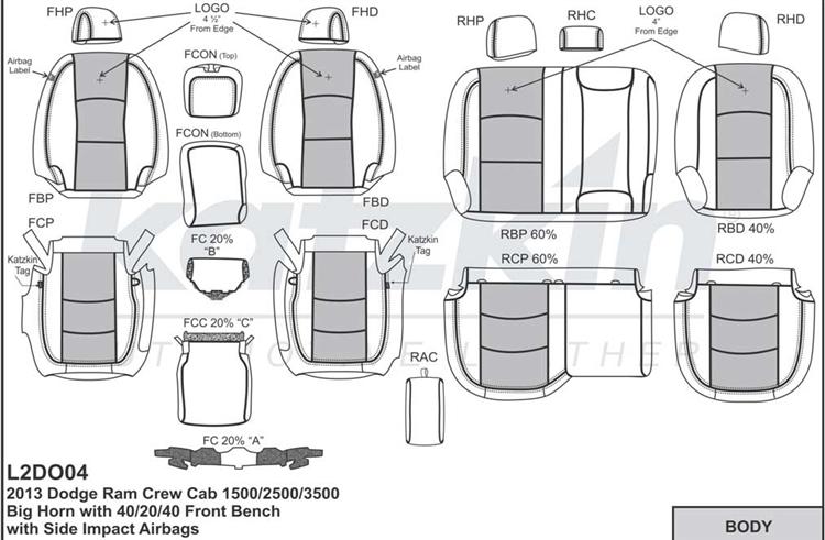Dodge Ram Crew Cab 1500 / 2500 / 3500 Katzkin Leather