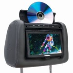 "Myron and Davis 7.0"" Headrest Monitor With Built in DVD"