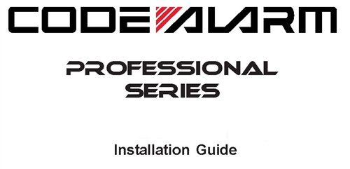 Code Alarm Owners and Installation Guides