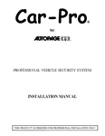 Car-Pro CPX-2300 Installation Manual