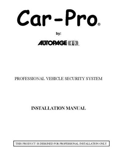 Car-Pro Owners and Installation Guides