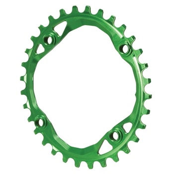 Absolute Black 104 Oval Chainring 64BCD