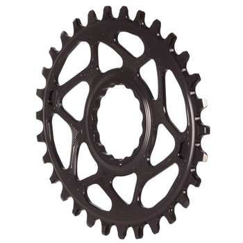 Absolute Black Spiderless Cinch DM Oval Chainring