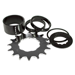 DMR Singlespeed spacer kit, 16t - black