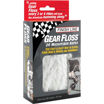 Finish Line Gear Floss Microfiber Cleaning Rope