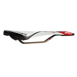 Prologo Zero II PAS Cut Out Saddle, 134mm wide, Ti-Rox alloy rails: White/Black