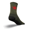 SockGuy Red Star Crew Bike Socks