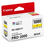 Canon PFI-1000 Y LUCIA PRO Yellow Ink Tank (80ml)
