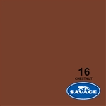 "Savage Widetone Seamless Background Paper (107"" x 12yd, #16 Chestnut)"